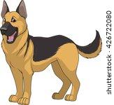 vector illustration funny dog... | Shutterstock .eps vector #426722080