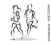 vector hand drawn fitness... | Shutterstock .eps vector #426723544