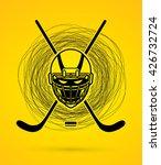 hockey helmet designed on...   Shutterstock .eps vector #426732724