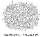 doodles vector. abstract ethnic ...   Shutterstock .eps vector #426736519