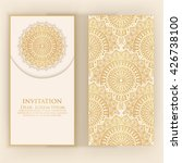 invitation  cards with ethnic... | Shutterstock .eps vector #426738100