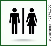 male and female sign icon ... | Shutterstock .eps vector #426741700