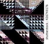 cute vector geometric seamless... | Shutterstock .eps vector #426743176