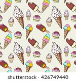ice cream  seamless pattern... | Shutterstock .eps vector #426749440