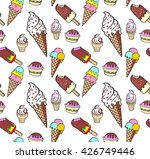ice cream  seamless pattern...   Shutterstock .eps vector #426749446