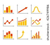 color graph chart icons set.... | Shutterstock . vector #426749986