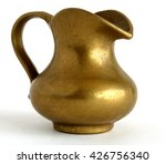 ancient bronze jug on white... | Shutterstock . vector #426756340