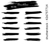 black ink vector brush strokes | Shutterstock .eps vector #426757714