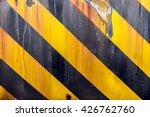 black and yellow caution strips ... | Shutterstock . vector #426762760