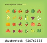 fruit and vegetables icons set. ... | Shutterstock .eps vector #426763858