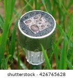 garden solar lantern after rain ... | Shutterstock . vector #426765628