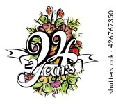 94 years with nice bouquet of... | Shutterstock .eps vector #426767350