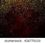 Gold Geometric Molecular Shape...