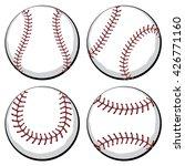 softball  baseball ball in four ... | Shutterstock .eps vector #426771160