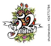 52 years with nice bouquet of... | Shutterstock .eps vector #426771784