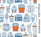 food seamless pattern. vector... | Shutterstock .eps vector #426779914
