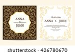 wedding card   yellow and brown ... | Shutterstock .eps vector #426780670
