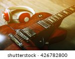 brown electric guitar with... | Shutterstock . vector #426782800