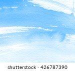 watercolor blue strokes hand... | Shutterstock . vector #426787390