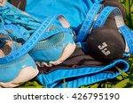 sports equipment .diet mobile... | Shutterstock . vector #426795190