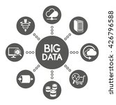 big data icons  information... | Shutterstock .eps vector #426796588