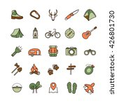 vector camping icons set for... | Shutterstock .eps vector #426801730