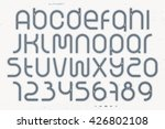 set of sport style alphabet... | Shutterstock .eps vector #426802108