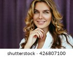 beautiful blonde girl with long ... | Shutterstock . vector #426807100