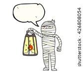 freehand drawn speech bubble... | Shutterstock .eps vector #426808054