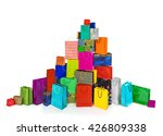 a huge pile of multi colored... | Shutterstock . vector #426809338
