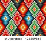 Stock vector traditional italian embroidery design colorful seamless geometric pattern 426809869