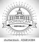 minimal dominican republic city ...   Shutterstock .eps vector #426814384