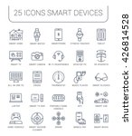 set vector line icons with open ...   Shutterstock .eps vector #426814528