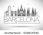 minimal barcelona city linear... | Shutterstock .eps vector #426814540