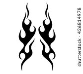 flame tattoo tribal vector... | Shutterstock .eps vector #426814978
