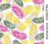 palm leaves seamless pattern.... | Shutterstock .eps vector #426819784