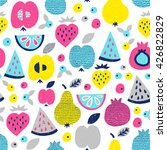 fruit seamless pattern. surface ... | Shutterstock .eps vector #426822829