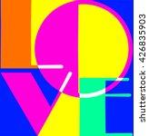 love. flat design pop art... | Shutterstock .eps vector #426835903
