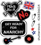 punk rock patches grunge cutout ... | Shutterstock .eps vector #426836614