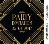 party invitation art deco... | Shutterstock .eps vector #426839803