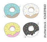 donut isolated on a white... | Shutterstock .eps vector #426839860