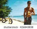 Summer Vacations. Man With Fit...