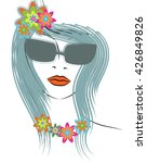 beautiful line art hippie... | Shutterstock .eps vector #426849826