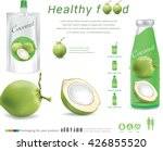 packaging with green coconut... | Shutterstock .eps vector #426855520