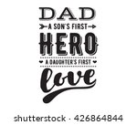 happy fathers day vector... | Shutterstock .eps vector #426864844