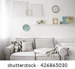 living room interior  grey... | Shutterstock . vector #426865030