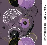 dandelions flowers in purple ... | Shutterstock .eps vector #426867583