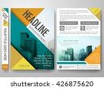 brochure design template vector.... | Shutterstock .eps vector #426875620