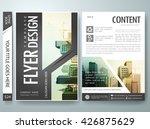 flyers design template vector.... | Shutterstock .eps vector #426875629