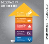 info graphics step by step.... | Shutterstock .eps vector #426880510